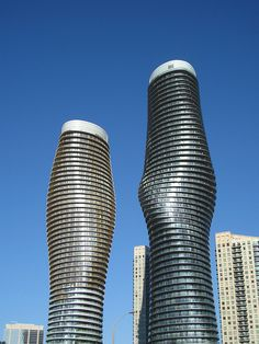 #Architecture: Absolute World Towers, AKA, the Marilyn Monroe Buildings, #Mississauga, #Ontario, #Canada