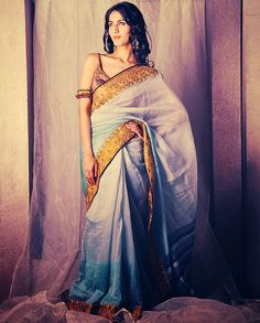 Beautiful blue sari