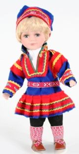 Same kautokeino Boy from Norwegian Dolls 12 inches Doll Costume, Costumes, Lappland, Sweater Shop, Dollhouse Dolls, Norway, Folk Art, Culture, Embroidery