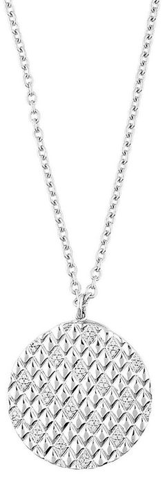 ESPRIT Charm-Kette für 162,44€. Filigrane Halskette in Ankerkettengliederung, Elegantes Sterlingsilber bei OTTO