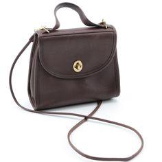 588484ee26e Coach Brown Leather Crossbody Handbag   EBTH Leather Handle, Cross Body  Handbags, Leather Crossbody