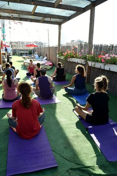 Sunny days on our Rooftop! Yoga class 4.7.16