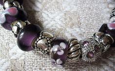 Купить Сердечный Браслет Пандора 32 - фиолетовый, сиреневый, браслет пандора, женский браслет, подарок