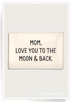 Mom, Love You To The Moon Découpage Glass Tray | Decoupage, Paperweights, Coasters and Frames