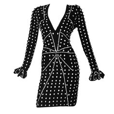 1stdibs - ICONIC RARE YVES SAINT LAURENT BY TOM FORD JEWELED VELVET DRESS explore items from 1,700  global dealers at 1stdibs.com