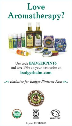 Exclusive coupon for Badger Pinterest friends!