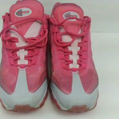 Nike Air Max Pink pre-owned shoes. One small mark on left foot. Nike Shoes Sneakers