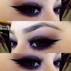 Gorgeous purple eye makeup ❤
