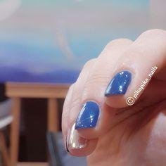 homemade color : Aegean x starry dust  #셀프네일 #cute #metallicnails #fashion #art #watercolor #beauty #ネイルサロン #blingblingnails nails #naildesign #nailsalon #selfnail #nail #네일 #design #polish #wedding #watercolornail #ネイルアート #pikapika_nails #ネイル #nailswag #nailart #수채화네일 #젤아트 #starrynails #gelnail #mirrornails #nailpolish #shatteredglassnails
