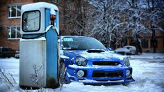 Subaru Impreza WRX Looks like mine only with out the body kit and snow.