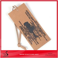 Custom Kraftpaper Tag with Paper string for Jeans Clothing, View Kraftpaper Tag with Paper string, Sinicline/ODM/OEM Product Details from Wuhan Sinicline Industry Co., Ltd. on Alibaba.com