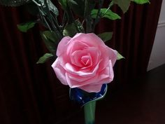 How to make tissue paper rose flower with wrapping method / Valentine's ...