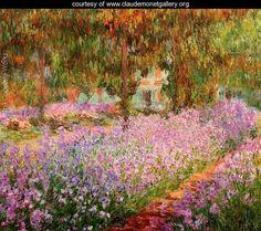 Irises In Monets Garden - Claude Oscar Monet - www.claudemonetgallery.org