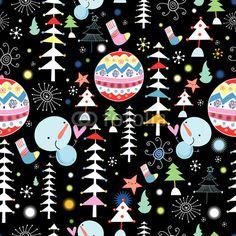 Adesivo textura inverno de árvores e bonecos de neve - vermelhos • Adesivo da…
