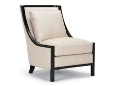 With gently-arched arms and a gracefully-curved back silhouetted in exposed wood, the Townsend chair hints at Deco inspiration.  A very comfortable chair, it will complement any contemporary room.