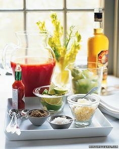 Make-your-own Bloody Mary bar