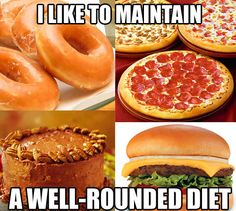 My diet is going according to plan…