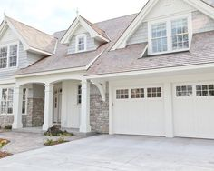 white home exterior and garage #NewHomesForSaleinDallas