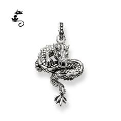 Find More Pendants Information about Pendant Grace Dragon Silver Black Size 3.5cm For Women And Men Trendy Gift Thomas Style Glam And Soul Pendant Fit Ts Necklace,High Quality Pendants from NervousCat on Aliexpress.com