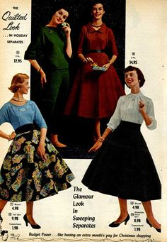 1955 fashion pictures | Pictures of 1950s Women's Fashion