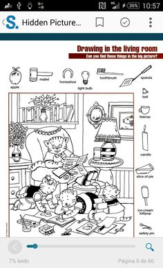 Hidden Hidden Object Puzzles, Hidden Picture Puzzles, Hidden Objects, Find Objects, Art Activities For Kids, Worksheets For Kids, Picture Search, Find Picture, Hidden Pictures Printables