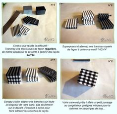"Polymer Clay Cane ""Vichy"" Gingham Tutorial by Paroledepate"