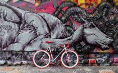 fixie z muralem