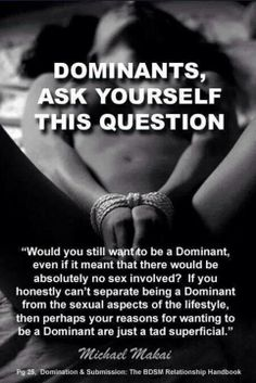 Dominate and submissive sex