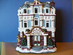 Donut shop california creations plaster christmas village