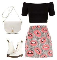 Kiss Me ! by claudiadarcy101 on Polyvore featuring polyvore, fashion, style, Miss Selfridge, River Island, Dr. Martens and Mulberry. I hope you like the set ! Follow and like to see more !   Instagram : _polyvore_fashionista101_ Polyvore : claudiadarcy101
