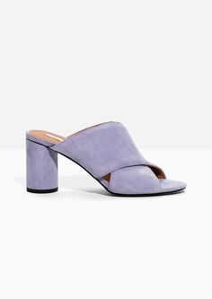fa0f47e814d Other Stories image 1 of Suede Cross Strap Mule in Purple Mules Shoes