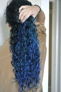 Black and blue, Hair and Blue on Pinterest
