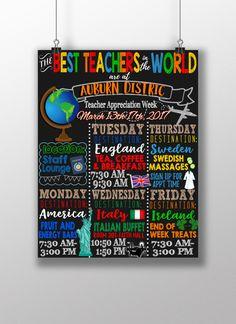 Best teachers in the world theme teacher by CustomPrintablesNY