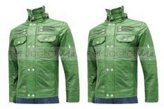"""Men's Elegant Green Fashion Leather Jacket"" by leatherjacketmaster ❤ liked on Polyvore"