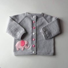 Pink elephant sweater silver g |