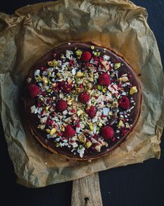 #raspberry and #chocolate and #coconutcream #tart Coconut Cream, Acai Bowl, Tart, Raspberry, Sweets, Chocolate, Breakfast, Food, Acai Berry Bowl