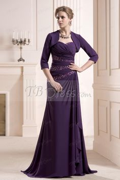Graceful Beaded Ruched Sheath/Column Sweetheart Neckline Floor-Length Mother of the Bride Dress http://www.tbdress.com/product/Graceful-Beaded-Sheath-Column-Sweetheart-Neckline-Floor-Length-Mother-Of-The-Bride-Dress-10659704.html