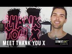 (37) STREET ART STORIES| Thank You X - YouTube 4th Street, Art Story, High School Art, Collaborative Art, Meet The Artist, Street Artists, 4 Kids, Art Activities, Art Google