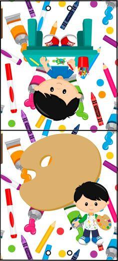 Olá queridos amigos ( as ) e seguidores do nosso Blog . Hj temos mais um Kit feito especialmente por mim ( Gabi Bonfim )p ajudar a colori... Art Themed Party, Art Party, Party Themes, Classroom Labels Free, Class Decoration, Binder Covers, Head Start, Kids Cards, Coloring Books
