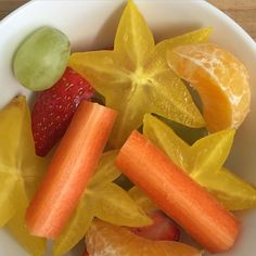 Starfruit Salad with Carambola, Mandarin, Strawberry, Grapes & Carrot // TAylett: Food Photos ~Salad