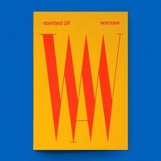 "Gefällt 234 Mal, 1 Kommentare - Draw Down Books (@drawdownbooks) auf Instagram: ""Warsaw (Slanted 28) / Available at draw-down.myshopify.com / Issue #28 of German design magazine…"""