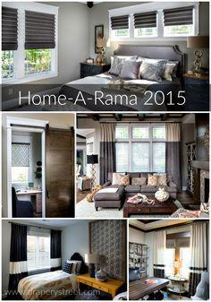 Home-A-Rama 2015 Recap: Bedrooms - Drapery Street Drapery, Window Treatments, Indiana, Bedrooms, Homes, Windows, Spaces, Street, Interior