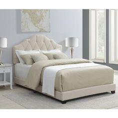 Kyara Upholstered Panel Bed Panel Bed Upholstered