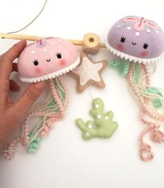Felt PDF pattern Cute jellyfish baby crib mobile Felt