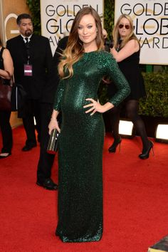 Golden Globes Red Carpet 2014 - Olivia Wilde in Gucci