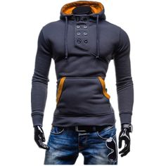 Dual Button hoodies 2016 newborns hoodies fitness sportswear brand jerseys  size M - XXL hoodie of cultivate one's morality