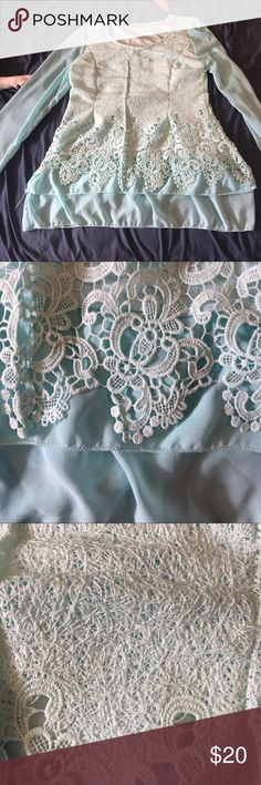 Romantic blue top! This is Lacey and beautiful! My grandma got it for me and I was heartbroken that it didn't fit me! Tops Blouses
