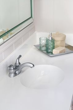 Faux Marble Bathroom Countertops New Diy Painted Bathroom Sink Countertop Bless Er House Marble Countertops Bathroom, Counter Top Sink Bathroom, Ceramic Tile Bathrooms, Sink Countertop, Bathroom Countertops, Counter Tops, Retro Bathrooms, Diy Bathroom Paint, Small Bathroom