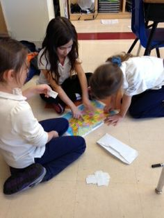 We've been learning about geography in Theme. We have explored the differences between countries, states and cities. Here students play a map game.