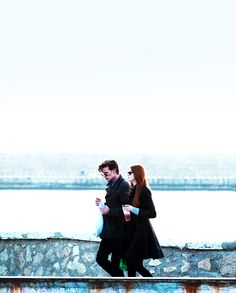 Matt Smith and Karen Gillian